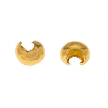 18K Gold Plated Crimp Covers - 3mm