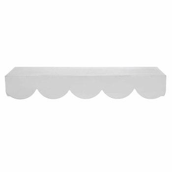 White Scalloped Wood Wall Shelf