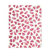 "Watercolor Watermelon Scrapbook Paper - 8 1/2"" x 11"""