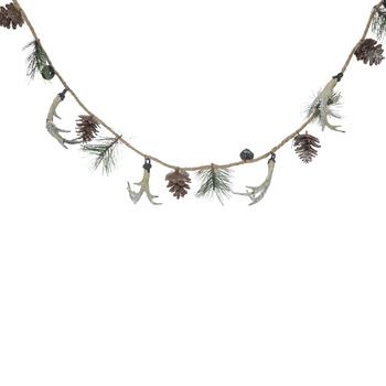 Pine, Antlers & Bells Garland