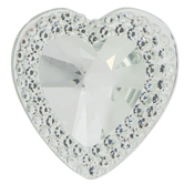 Gem-Cut Heart Rhinestone Scatter