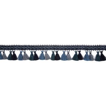 Blue Melange Miami Tassel Fringe Trim