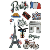 Paris 3D Stickers