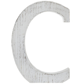 Whitewash Wood Letter Wall Decor - C