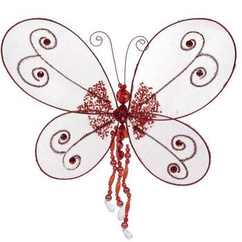 Red Nylon Butterfly