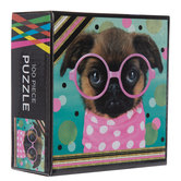 Puppy With Glasses & Polka Dots Puzzle