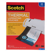 "Scotch Thermal Laminating Pouches - 8 1/2"" x 11"""