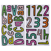 Multi Cartoon Alphabet Stickers