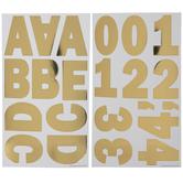 Gold Foil Franklin Alphabet Stickers