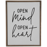Open Mind Open Heart Wood Wall Decor