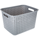 Gray Woven Container