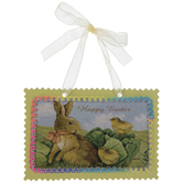 Happy Easter Bunny & Chicks Ornament