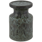 Brown & Patina Pedestal Candle Holder
