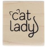 Cat Lady Rubber Stamp