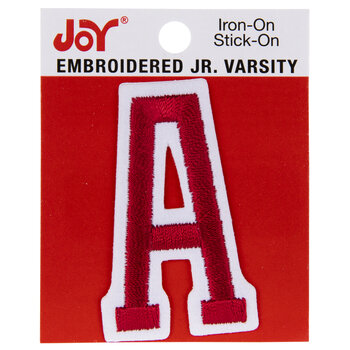 """Red Junior Varsity Letter Iron-On Applique A - 2"""""""