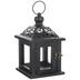 Black Ornate Wood Lantern