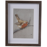 Winter Bird Framed Wall Decor