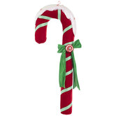 Frosted Candy Cane Decor