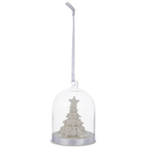 Glass Dome Ornament With Christmas Tree