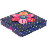 Pink Flower Polka Dot Gift Box