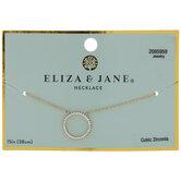 Cubic Zirconia Circle Pendant Necklace