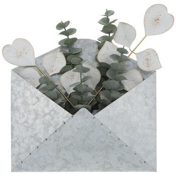 Eucalyptus Envelope Metal Wall Decor