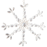 Silver Jeweled Snowflake Ornament