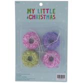 Mini Beaded Donut Ornaments