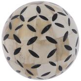 Beige & Black Ovals Decorative Sphere