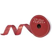 "Metallic Red Lame Wired Edge Ribbon - 1 1/2"""