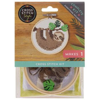 Sloth Mini Cross Stitch Kit