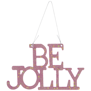 Pink Be Jolly Ornament