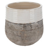 White & Gray Flower Pot