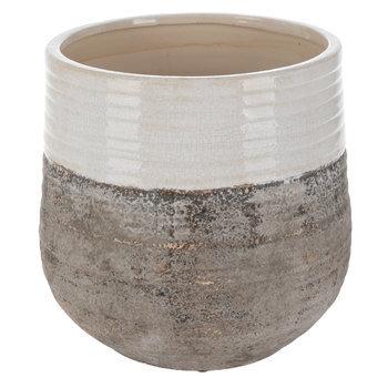 White & Gray Flower Pot