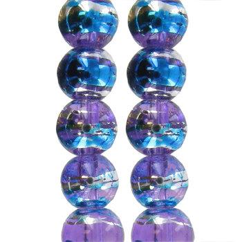 Purple Confetti Glass Bead Strands