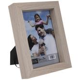 """Beige Block Wood Frame - 5"""" x 7"""""""