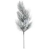 Flocked Pine Branch