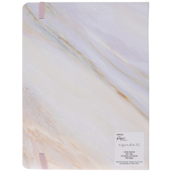 Purple & Orange Marble Lined Journal