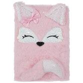 Pink Fox Fuzzy Journal