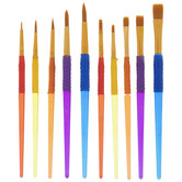 Kids Gripper Paint Brushes - 10 Piece Set