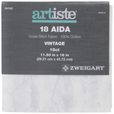 Vintage Gray 18-Count Aida Cross Stitch Fabric