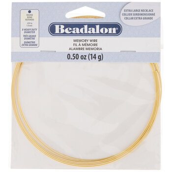Extra Heavy Duty Round Necklace Memory Wire