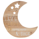Love You Moon Wood Wall Decor
