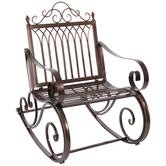 Bronze Metal Rocking Chair