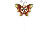 Butterfly & Flower Metal Garden Pick