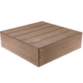 Brown Wood Plank Square Cake Stand