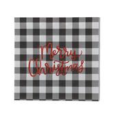 Buffalo Check Merry Christmas Napkins