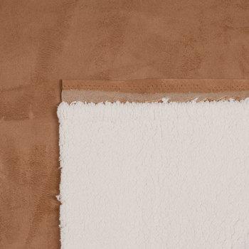 Chestnut Sherpa Suede Fabric