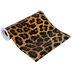 Leopard Print Faux Leather Wide Ribbon - 8
