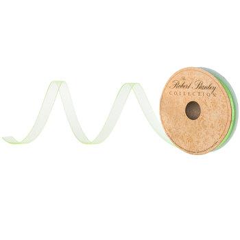 """Bright Green Sheer Ribbon - 3/8"""""""